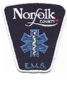The Norfolk County EMS badge.