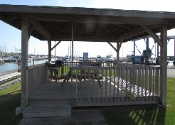Port Dover Harbour Museum gazebo - a covered picnic area.