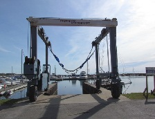 Port Dover Harbour Marina travel lift