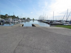 Port Dover Harbour Marina boat ramp