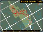 Backus Woods trail map