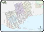 Large colour county map
