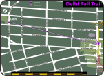Delhi Rail Trail map