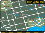 Lynn Valley Rail Trail map