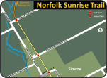 Norfolk Sunrise Trail map