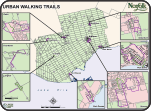 Urban walking trails map