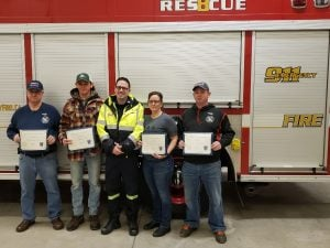 Firefighters and paramedic