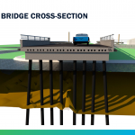 Drawing of bridge cross-section